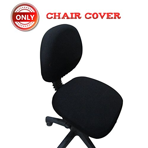 A.B Crew Computer Office Chair Cover Pure Color Universal Chair Cover Stretch Rotating Chair Cover(Black)