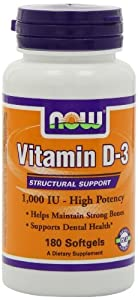 NOW Foods Vitamin D-3 1000 IU, 900 Softgels