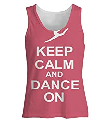 Snoogg Keep Calm And Dance On Womens Tunic Casual Beach Fitness Vests Tank Tops Sleeveless T shirts