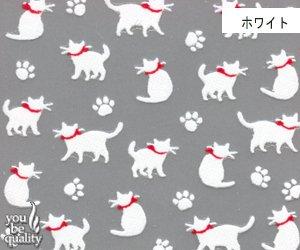 bibi deco ネイルシール bi143ーW シルエット猫 ホワイト