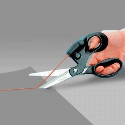 1Pcs Useful Sewing Laser Scissors Cuts Straight Fast Laser Guided Scissors Laser Scissors Light Scissors Laser Household Items