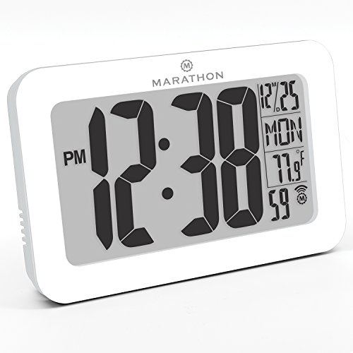 marathon-cl030033wh-atomic-self-setting-self-adjusting-wall-clock-w-stand-8-timezones-batteries-incl