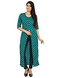 Coash Green Polka Dot Women CapeTop