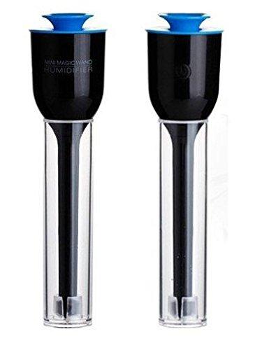 おしゃれ で 人気 超音波式 usb エコ 加湿器 携帯 に 便利 な 卓上 サイズ で 防カビタイプ (ブラック)