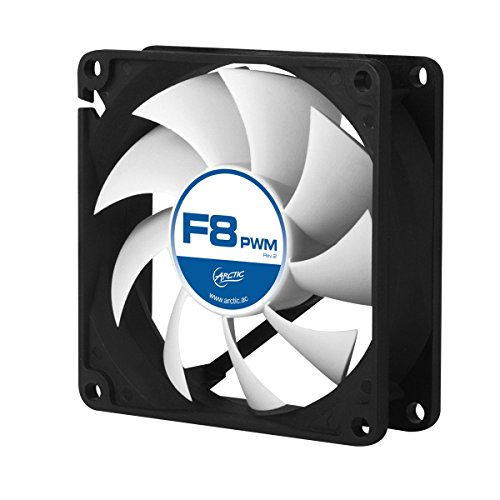 ARCTIC F8 PWM Rev. 2 Fluid Dynamic Bearing Case Fan, 80mm PWM Speed Control, 31CFM at 22.5dBA (Variable Speed Pc Fan compare prices)