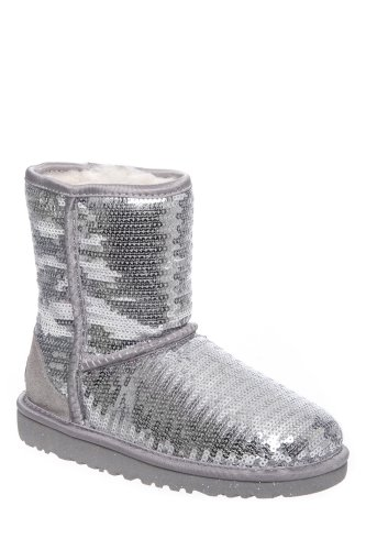 UGG Australia Kid's Classic Short Sparkles Flat Winter Boot