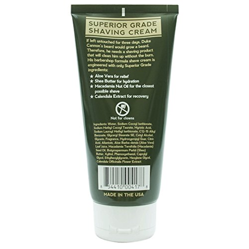 duke cannon superior grade shaving cream 6oz grow beard fast. Black Bedroom Furniture Sets. Home Design Ideas