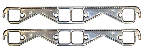 Proform 67921 Aluminum Exhaust Header Gasket with Square Ports for Small Block Chevy - Pair (85 Camaro Headers compare prices)