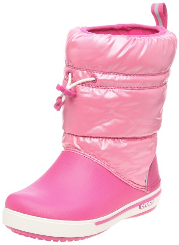 Crocs Junior Crocband Iridescent Gust Boot Fuchsia/Pink Lemonade 12772-69P-133 2 UK