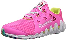 Reebok Zigtech Big and Fast Running Shoe (Little Kid/Big Kid),Electro Pink/Ultima Purple/Timeless Teal/Black/High Vis Green,6 M US Big Kid