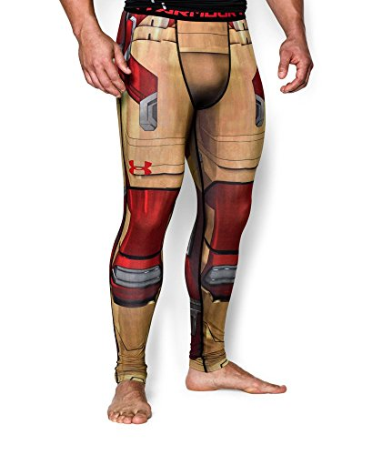Under Armour Men's Alter Ego Iron Man Compression Leggings Small Vegas Gold