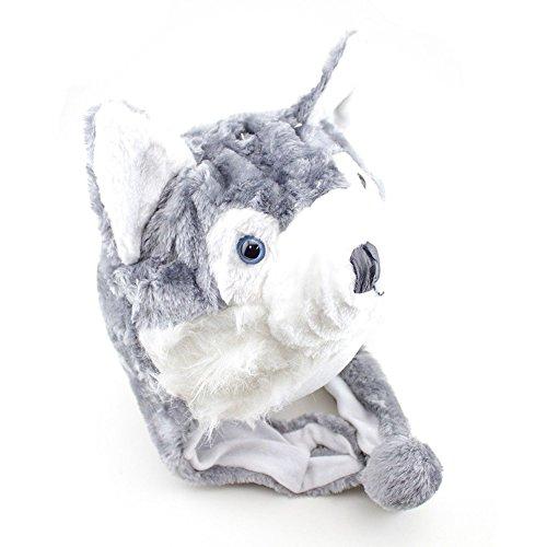 TopTie Weichtier Hut mit Ohrenklappen, Pelztier Hood Cap - Husky