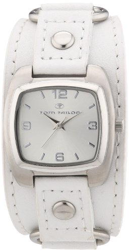Tom Tailor - 5410603 - Montre Femme - Quartz Analogique - Bracelet Cuir Blanc