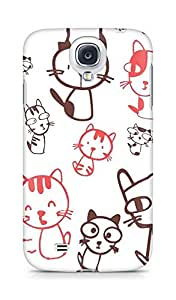 Amez designer printed 3d premium high quality back case cover for Samsung Galaxy S4 (Cute Cats)
