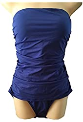 Tommy Bahama Women's Blue Tummy Control One Piece Swimsuit 14D