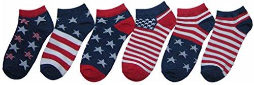 ChildrenS No Show Socks: Americana Prints Size 4-6 (360 Pieces)<br />