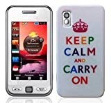 Keep Clam And Carry On Design Hard Skin Case For Samsung GT S5230 Tocco Lite star