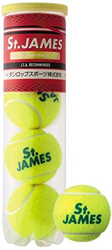 DUNLOP(ダンロップ) セント・ジェームス プレッシャーライズド テニスボール (4球入り) STJAMESE