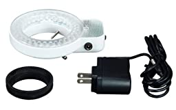 OMAX 64 LED Focused Bright Shadowless Ring Light for Stereo Microscope