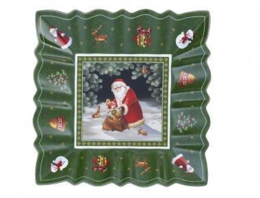 Villeroy & Boch Toy's Fantasy Schale eckig Weihnachtsmann im Wald NEU
