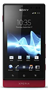 Sony Xperia sola MT27i-RED Unlocked Phone with 5 MP Camera, Android 2.3 OS, 1 GHz Dual-Core Processor, and 3.7-Inch Touchscreen--U.S. Warranty (Red)