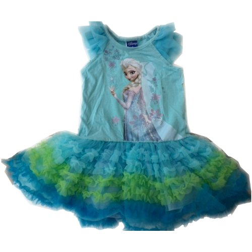 Generic Kid's Girl's Baby Frozen Elsa Sleeveless Tutu Dress Party Dress Skirt Costume