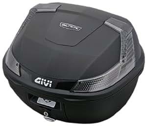 GIVI(ジビ) モノロックケース(トップケース) 未塗装ブラック TECHスモークレンズ 汎用ベース付き 37L B37NTD 78038
