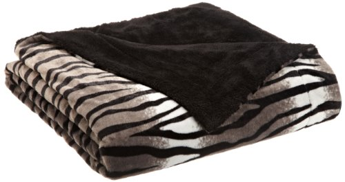 Northpoint Safari Chic Faux Fur Blanket, Full/Queen, Zebra front-895491