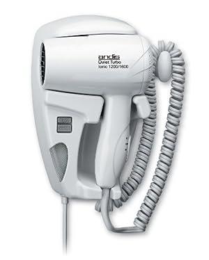 Andis 1600W Quiet Hangup Hair Dryer with Night Light, White