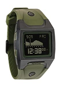 Nixon Lodown Matte Black Surplus Army Green Polyurethane Digital Mens Watch A5301042