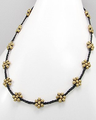 Bohemian Brass Flower Necklace-Gems Couture