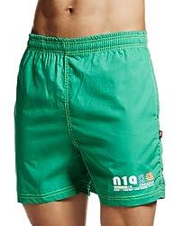 Sweet Dreams Men's Cotton Boxers (F-MB-0198 Green XL)