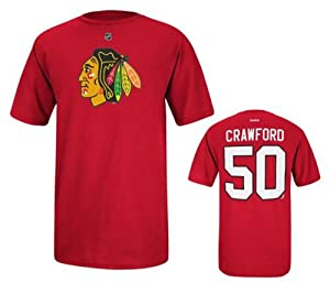 Chicago Blackhawks Youth Corey Crawford 50 NHL T-Shirt by NHL