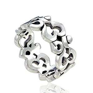 925 Sterling Silver Om Ohm Aum Symbolic High Polished Finish Band Ring for Women Size 7 - Nickel Free