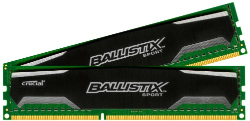 Crucial Ballistix Sport 16GB Kit (8GBx2) DDR3 1600 MT/s (PC3-12800) CL9 @1.5V UDIMM 240-Pin Memory BLS2CP8G3D1609DS1S00