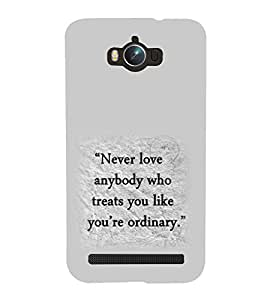 printtech Cool Quotes Life Back Case Cover for Asus Zenfone Max ZC550KL