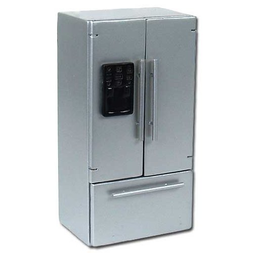 top 10 french door refrigerators who sells dollhouse miniature stainless steel refrigerator. Black Bedroom Furniture Sets. Home Design Ideas