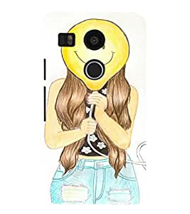 EPICCASE Happy Face Mobile Back Case Cover For LG Google Nexus 5X (Designer Case)