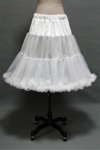 White Rockabilly/Crinoline Net Petticoat Slip Skirt Tutu for Wedding/Prom Dress
