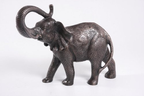 Goyal India Goyal India Copper Antique Finish Elephant (15 X 20 X 8.5 Inches) (Brown)