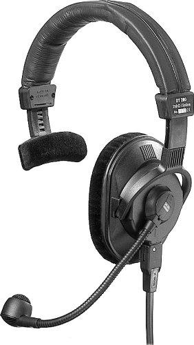 Beyerdynamic Dt-280-Mkii-200/250 Lightweight Single-Ear Headset With Hypercardioid Gooseneck Microphone, 250 Ohms