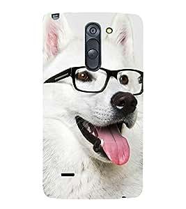 Dog with Reading Glasses 3D Hard Polycarbonate Designer Back Case Cover for LG G3 Stylus :: LG G3 Stylus D690N :: LG G3 Stylus D690