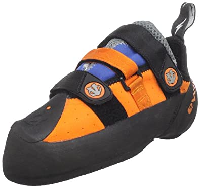 evolv Men's Shaman Climbing Shoe,Orange/Blue,9.5 M US