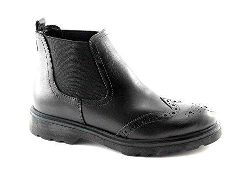 PREGUNTA IAL24765 nero scarpe donna stivaletti beatles inglese 40