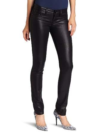Level 99 Women's Lily Skinny Straight Jean, Black, 26