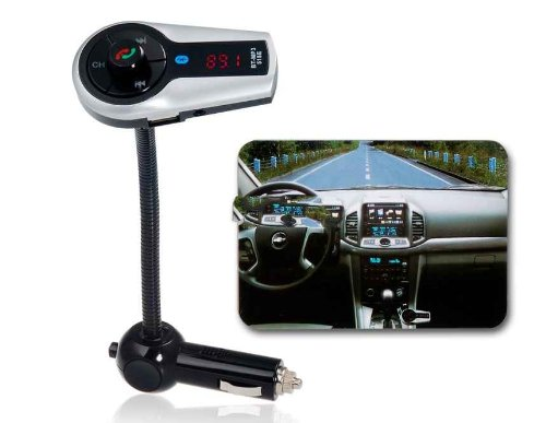 528 Multifunctional Infrared Rc Bluetooth Hands-Free Car Kit With Fm Radio (Blue Light)
