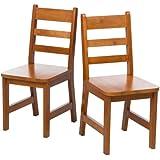 Lipper International 523/4P Child's Chairs, Set of 2, Pecan