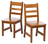Lipper International 523/4P Childs Chairs, Set of 2, Pecan