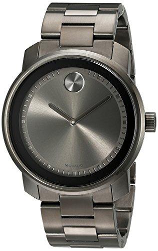 Movado Bold 3600259 - Orologio da polso unisex, cinturino in acciaio inox colore grigio