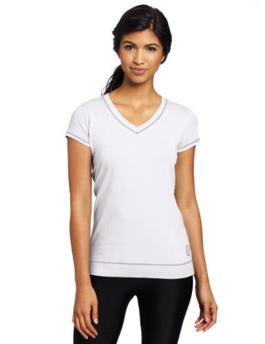 Tasc Performance Women's Streets V-Neck Tee, White, Medium